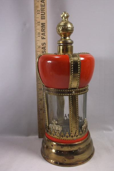 Vintage Red Crown Decanter MR. Bartender Musical Liquor Poorer Dispencer.epsteam