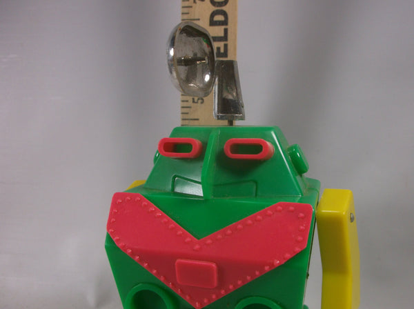 Robot Toy Astroids Tarheel Wind-up Japan Walking  with Spinning Radar Green Space Toy.epsteams