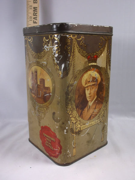 Toffee Tin - Unusual Collectable Edmondsons Red Seal Toffee Tin from Liverpool / Confectionary Tin / Collectable Tin.epsteam