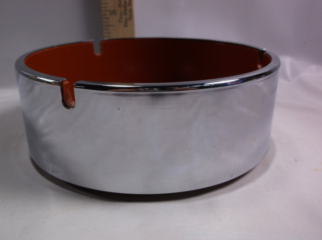 Ashtray Large Maru Trend Pacific Chrome & Rust Colored  Isamu Kenmochi Mid Century.epsteam