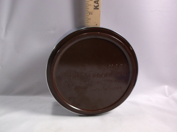 Ashtray Large Maru Trend Pacific Chrome & Root beer Brown  Colored  Isamu Kenmochi Mid Century.epsteam
