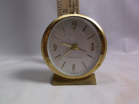Alarm Clock Working Vintage Mid Century Modern Westclox Small Travel Wind Up .epsteam