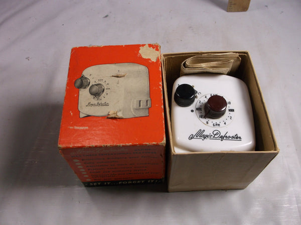 MAGIC DEFROSTER 1950's Model E-100 original box Instruction Refrigerator Freezer.epsteam