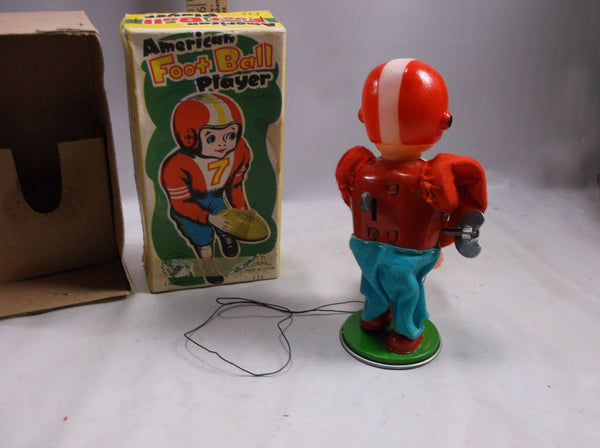 Sports Collectable Windup Toy Japan Vintage  American FootBall Player Working Mint In Box.epsteam