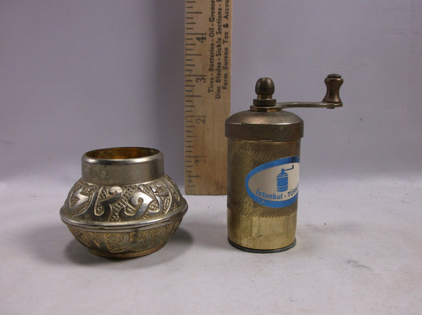 Vintage Brass Istanbul Pepper Mill mid century modern.epsteam