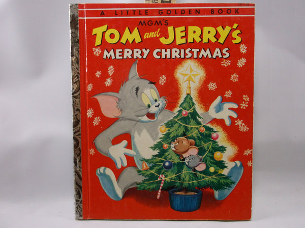 The Little Golden Book Of Tom And Jerry's Merry Christmas First Printing A  1954 Near Mint.epsteam