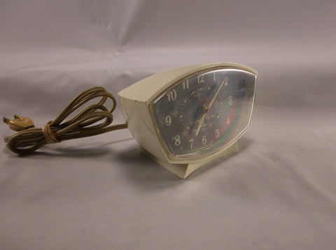 Alarm Clock Vintage Atomic Era GE General Electric Telechron  Model  Tested and Works