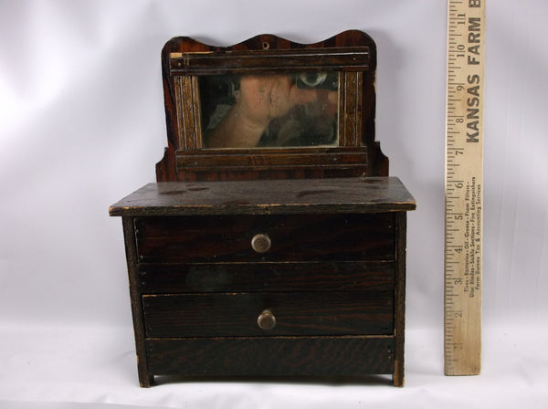 Child's toy Dresser  Victorian Antique with great detail ,hand made in the 1900 s rare item to find.