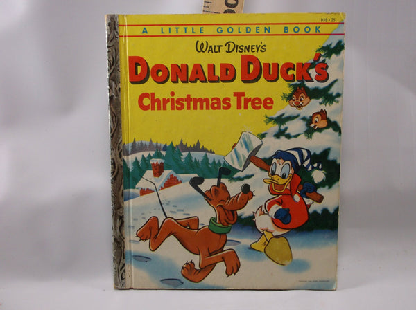 The Little Golden Book Of Donald Duck's Christmas Tree  First Printing A  #D39 1954 Near Mint.epsteam