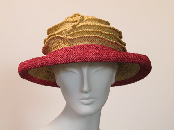 Lido packable straw hat by Kabuki Design Studio