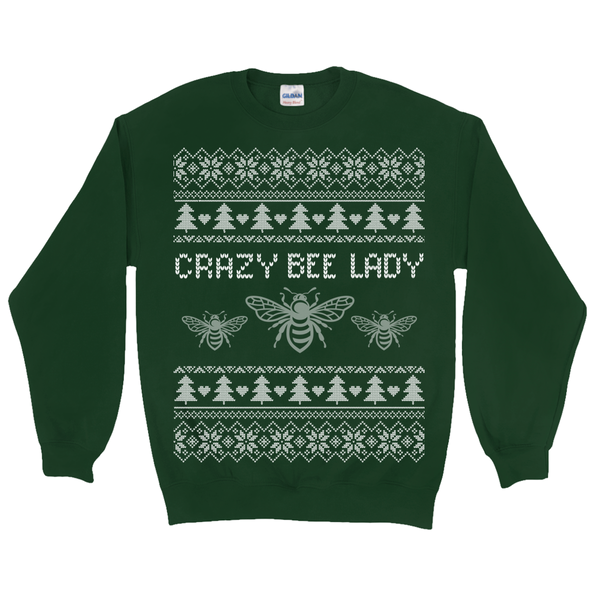 Crazy Bee Lady Ugly Christmas Sweater