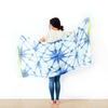 Summer Blanket Scarf - Shibori Blue