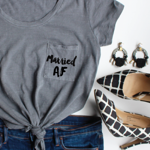 married af shirt pocket