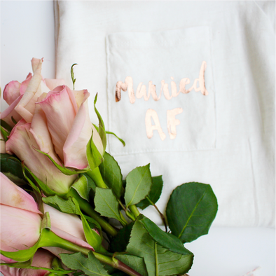 Married AF Shirt - Rose Gold