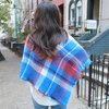 Monogrammed Blanket Scarf  Blue  Orange Game Day