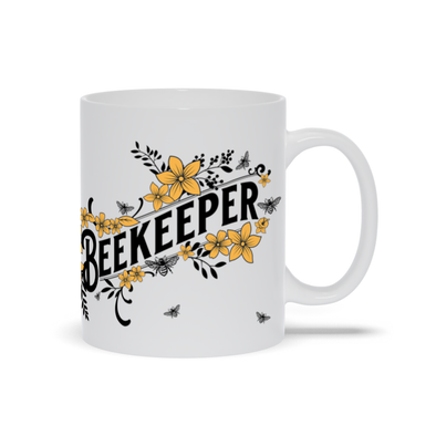 Beekeeper Mug with Yellow Flowers