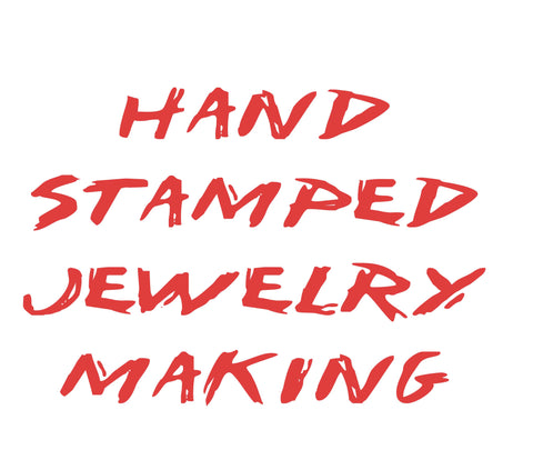 hand stamped jewelry making blog post, handmade jewellery making process