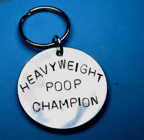 heavyweight poop champion - fun gift, funny gifs, funny keychains