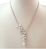 Orchid necklace for women silver
