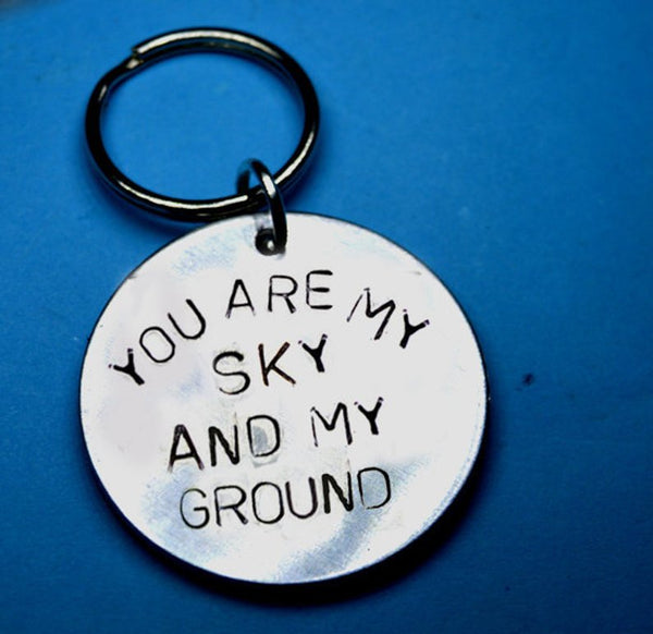 You Are My Sky And Ground Keychain- Boyfriend Gift Ideas