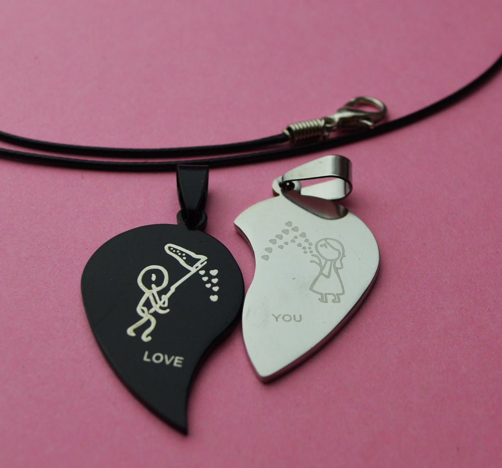 9d2270ea10 Split heart couples jewelry - accessory – Bees Gift Ideas