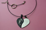 Split heart couples jewelry -  accessory, Necklaces for women , hearts