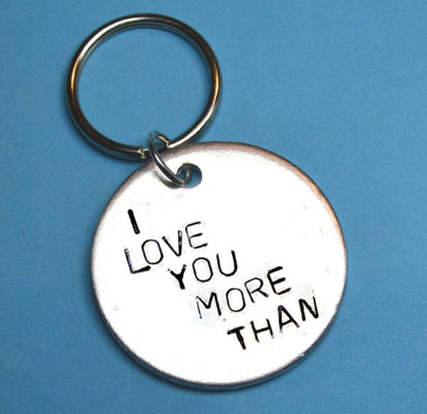 I Love You More Than Keychain - Boyfriend Gift