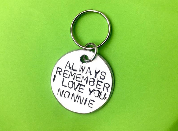 Always remember I love you - personalised gift Keychain Gift, Romantic and sweet gift for boyfriend or husband