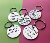 Handmade Artisian gift shop UK, gift ideas, fun and cute keychains , hand stamped jewelry, new years gift