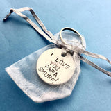 I love you always - Keyring i love you always romantic quote on gift romantic gift ideas romantic keyring romantic gift funny quotes gift idea for boyfriend husband gift anniversary gifts best friend gifts stamped keychains Personalised gifts gift shop UK Handmade Artisian handmade gifts hand stamped keychains anniversary gift for him love quote hubby gift for anniversary cute gift for papa