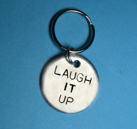 "Keychain - Best Friend Gift - ""Laugh It Up"" Keyring"