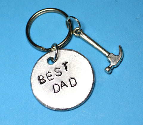 Keyring - Best Dad Gift - Keyring With Hammer Charm
