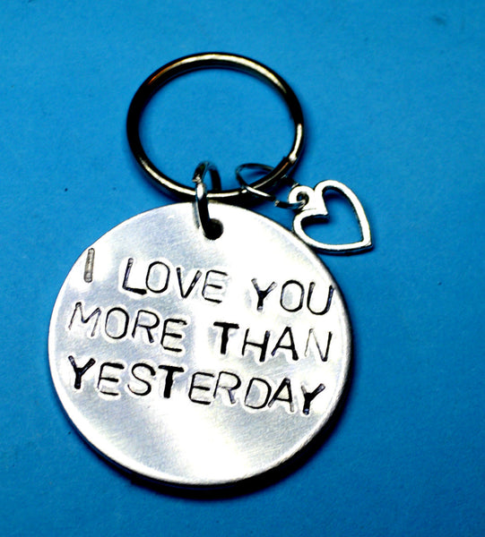 Keyring - I Love You More Than Yesterday - Romantic Keychain