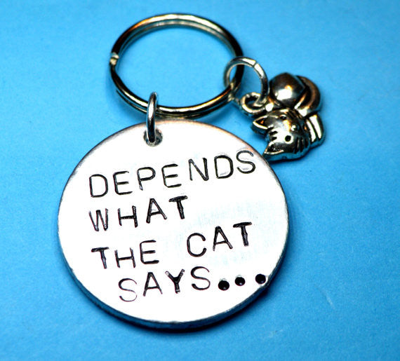 Keyrings - Cat Lover Gift - Keyring With Cat Quote
