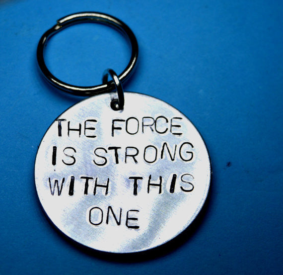Keyrings - Star Wars Quote Keyring - The Force Is Strong With This One