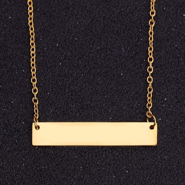 Customisable Bar Necklace Rose gold, Silver, Gold