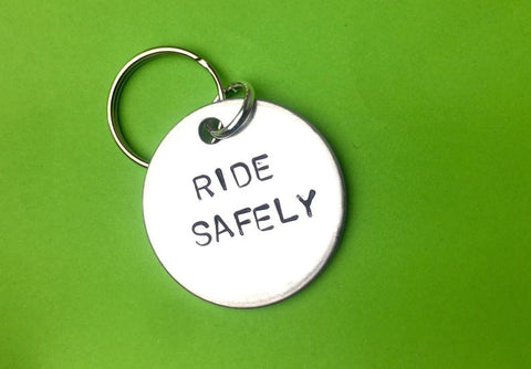 Ride Safely Key Chain- Romantic Gift For Boyfriend, Ride Safely - Bicycle or Motorcycling gift Keychain