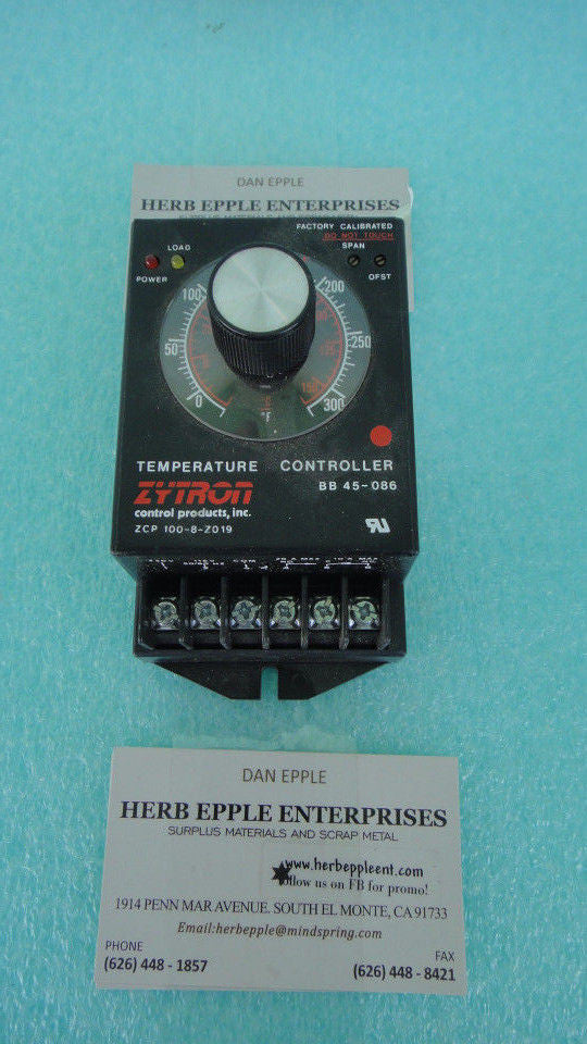 New, Zytron BB 45-073 Temperature Controller*RA-12 (UW 414)