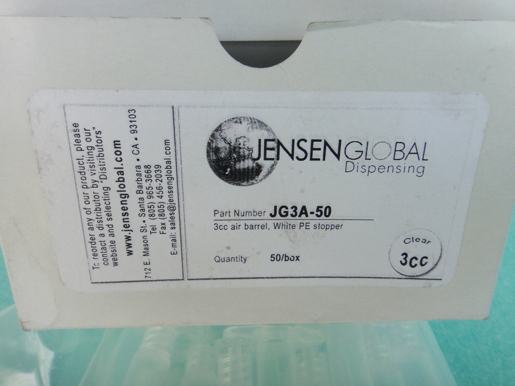 LOT OF 3 New BOXES Jensen Global JG3A-50 3CC (50PCS/BOX)*RA-1 (UW 44)