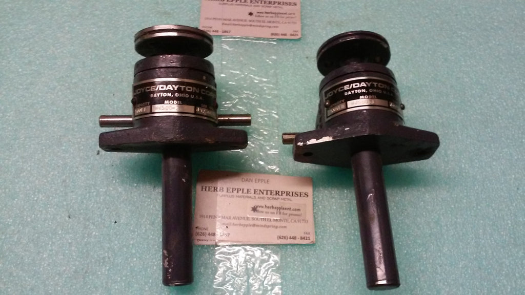 LOT OF 2, JOYCE/DAYTON Co. Machine Screw Jacks MODEL WJ500-3 500 lbs. *RA-4