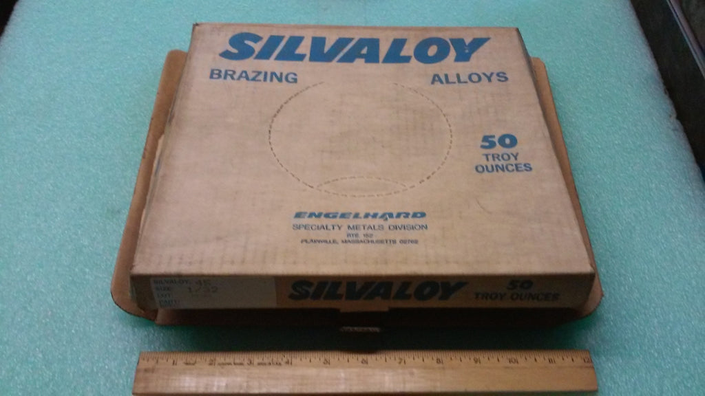 SILVALOY ALLOY #45 SIZE 1/32 ENGELHARD SPECIALTY METAL DIVISION