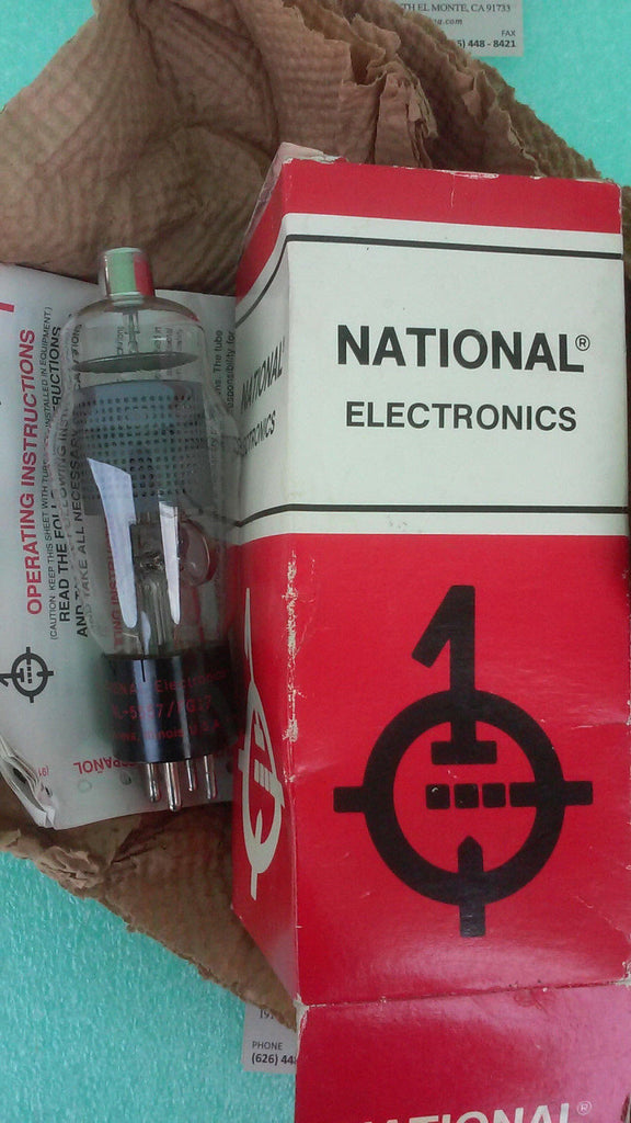 NATIONAL ELECTORNICS VINTAGE TUBE *RA-9(UW53)