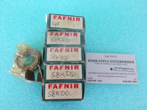 LOT OF 5 NEW, FAFNIR 58KDD BEARING *RA-4 (UW 44)