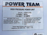 POWERTEAM Hydrolic Power Unit 115 Volt (R)