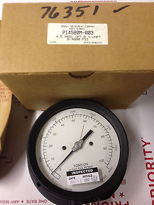 MARSH INSTRUMENT P14580M-003 4.5 PROC OPT B 1/2NPT 0/4000 PSI *RA-7