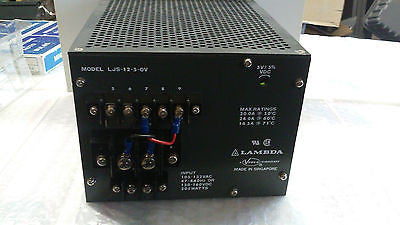 Lambda POWER SUPPLY LJS-12-5-OV MADE IN SINGAPORE *RA-4