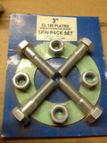 "tripac fasteners 3"" cl 150 plated with ring 1/16 non asb gasket *RA-7"