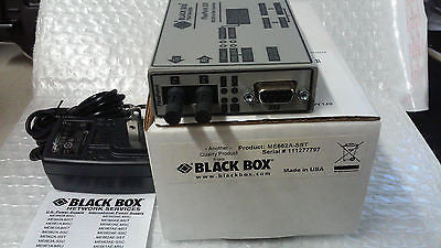 NEW BLACK BOX MODEL ME662A-SST  RS-232 TO FIBER CONVERTER FLEX POINT 232 (R)