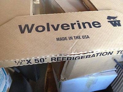 "WOLVERINE 1/3"" x 50' refrigeration tube MADE IN USA (R)"
