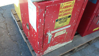 USED RED Justrite 25042 Flammable Liquid Storage Cabinet 4 GAL  USA (B) (R)